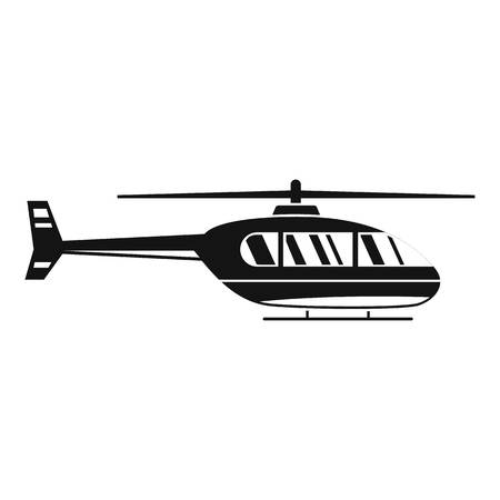 Utility helicopter icon. Simple illustration of utility helicopter vector icon for web design isolated on white background Illusztráció