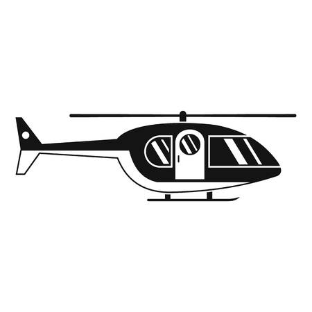 Hospital helicopter icon, simple style