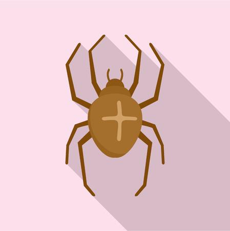 Cross spider icon. Flat illustration of cross spider vector icon for web design  イラスト・ベクター素材