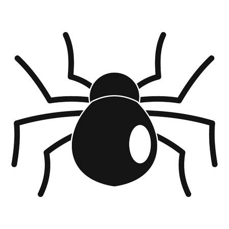 Female mouse spider icon. Simple illustration of female mouse spider vector icon for web design isolated on white background