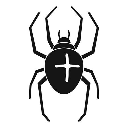 Cross spider icon. Simple illustration of cross spider vector icon for web design isolated on white background  イラスト・ベクター素材