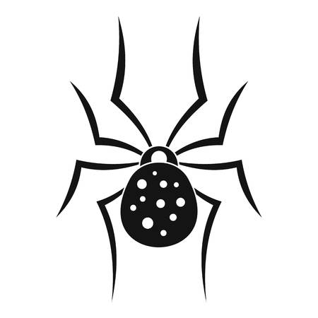 Spider icon. Simple illustration of spider vector icon for web design isolated on white background