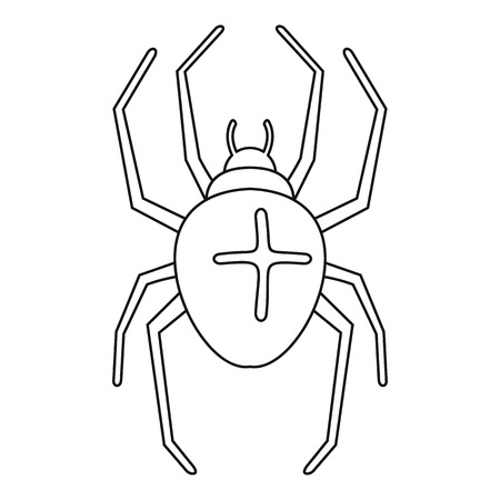 Cross spider icon. Outline cross spider vector icon for web design isolated on white background Vectores