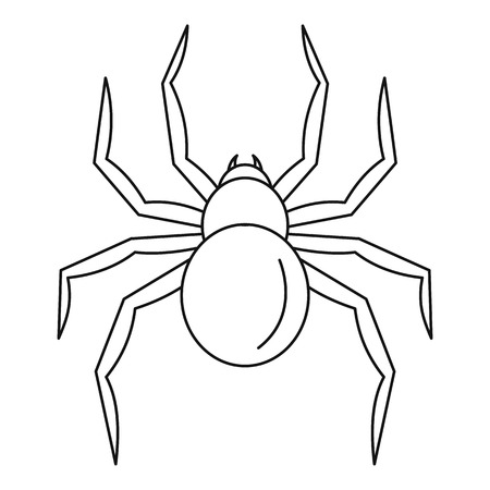 Black widow spider icon. Outline black widow spider vector icon for web design isolated on white background