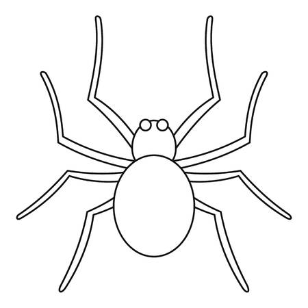 Grass spider icon, outline style Vector Illustration