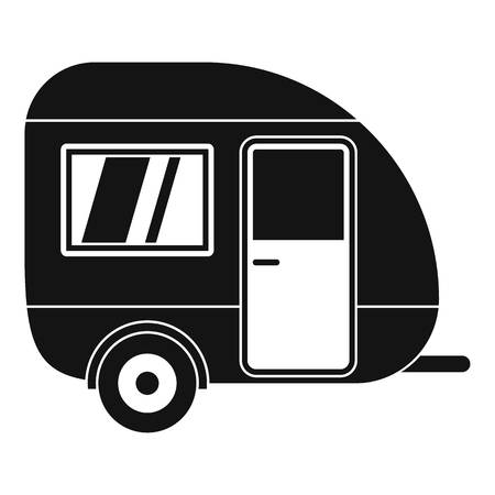 Travel trailer icon. Simple illustration of travel trailer vector icon for web design isolated on white background
