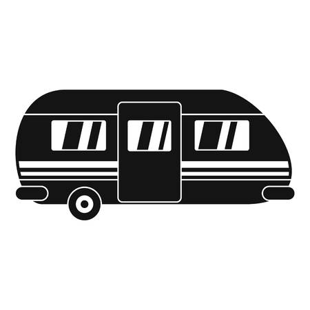 Summer camp trailer icon, simple style Illustration