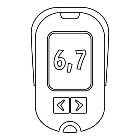 Glucometer icon, outline style Illustration
