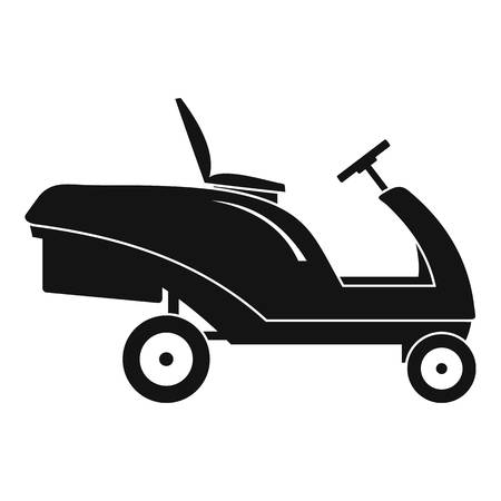 Grass cut truck icon. Simple illustration of grass cut truck vector icon for web design isolated on white background Banque d'images - 114814445