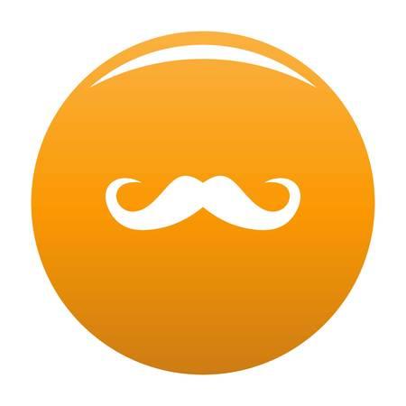 Icône de moustache de guidon. Illustration simple de l'icône de vecteur de moustache de guidon pour toute conception orange