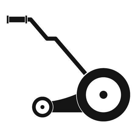 Symbol für den elektrischen Grasschneider. Einfache Illustration der Vektorikone des elektrischen Grasschneiders für das Webdesign lokalisiert auf weißem Hintergrund