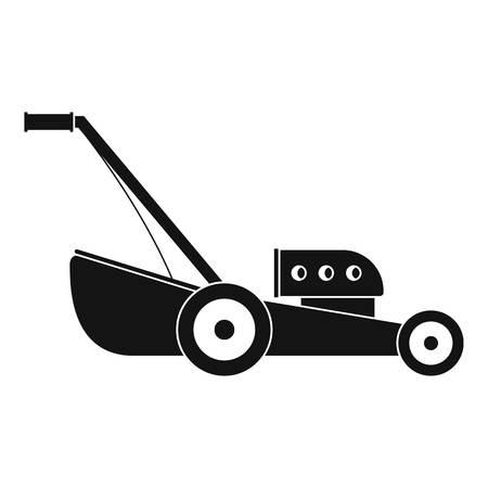 Symbol für Benzin-Grasschneidemaschine. Einfache Illustration der Vektorikone der Benzingrasschneidemaschine für das Webdesign lokalisiert auf weißem Hintergrund Vektorgrafik