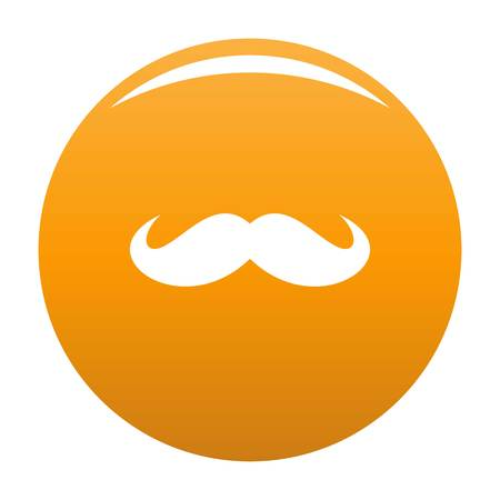 Russia mustache icon. Simple illustration of russia mustache vector icon for any design orange Vettoriali