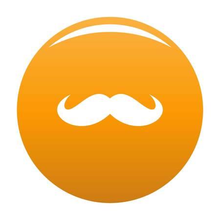 Russia mustache icon. Simple illustration of russia mustache vector icon for any design orange Vectores