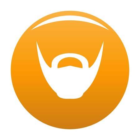 Round beard icon. Simple illustration of round beard vector icon for any design orange Vettoriali