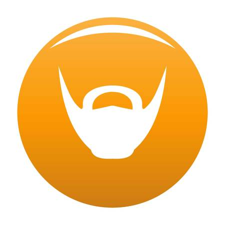 Round beard icon. Simple illustration of round beard vector icon for any design orange 矢量图像