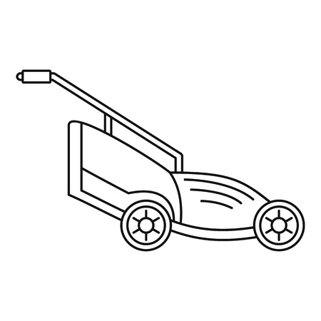Lawn mower icon. Outline illustration of lawn mower vector icon for web design isolated on white background