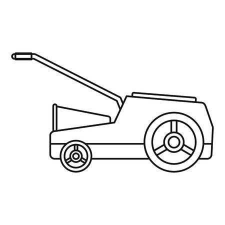 Lawn mower machine icon. Outline illustration of lawn mower machine vector icon for web design isolated on white background