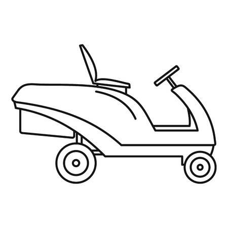 Grass cut truck icon. Outline illustration of grass cut truck vector icon for web design isolated on white background Banque d'images - 114814460