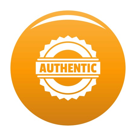 Simple illustration of authentic vector  for any design orange Çizim