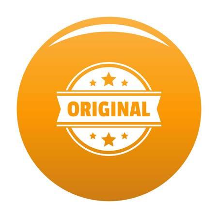 Simple illustration of original vector  for any design orange
