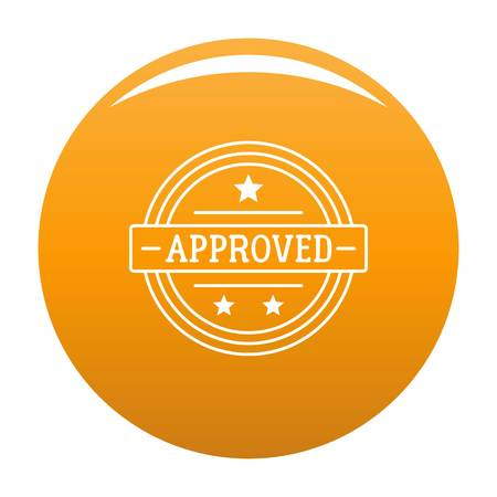 Simple illustration of approved vector  for any design orange
