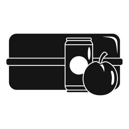 Apple cola box icon. Simple illustration of apple cola box vector icon for web design isolated on white background