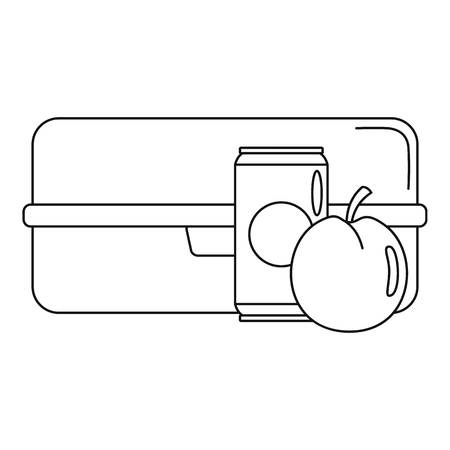 box icon, outline style Illustration