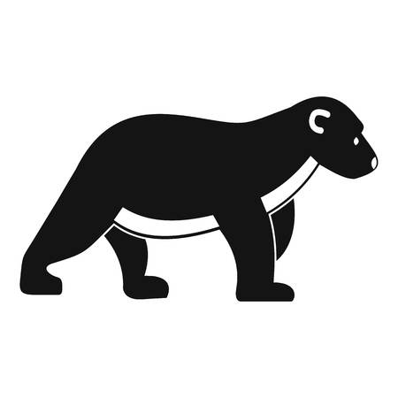 Polar bear kid icon. Simple illustration of polar bear kid vector icon for web design isolated on white background Ilustrace