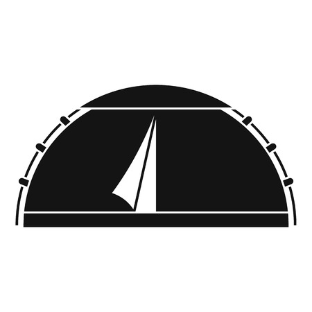 Camp round tent icon, simple style