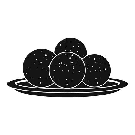 Propolis sphere icon, simple style Illusztráció