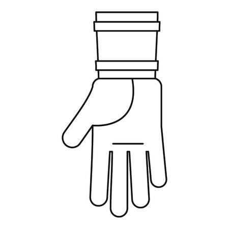 Farm glove icon, outline style