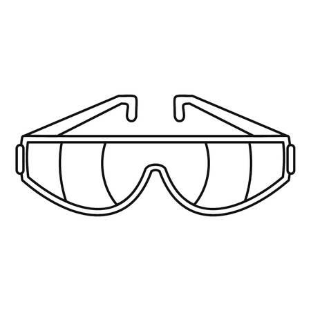 Icône de lunettes de sécurité. Contours illustration de lunettes de sécurité icône vecteur pour la conception web isolé sur fond blanc Vecteurs