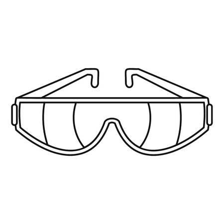 Safety glasses icon. Outline illustration of safety glasses vector icon for web design isolated on white background