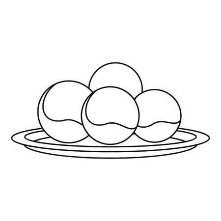 Propolis sphere icon, outline style