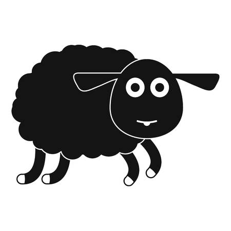 Sheep icon. Simple illustration of sheep vector icon for web design isolated on white background