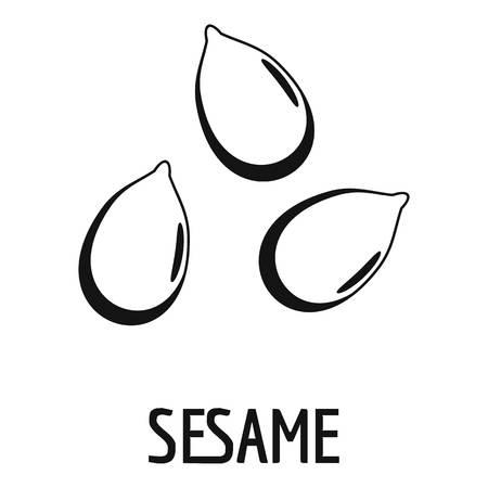 Icono de sésamo, estilo simple