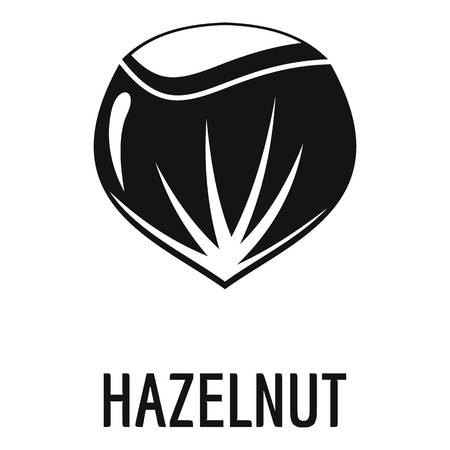 Hazelnut icon, simple style