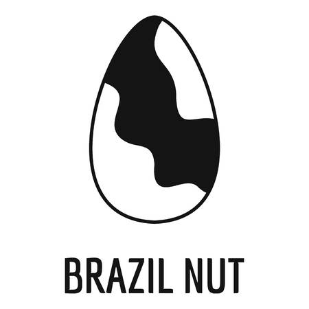 Brazil nut icon, simple style
