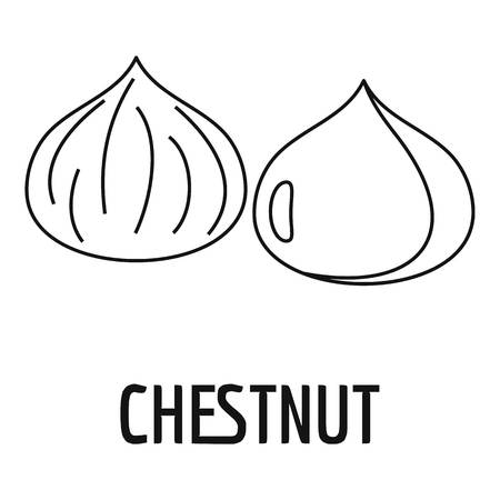 Chestnut icon, outline style 일러스트