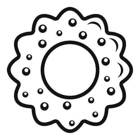 Star cake icon. Simple illustration of star cake vector icon for web design isolated on white background
