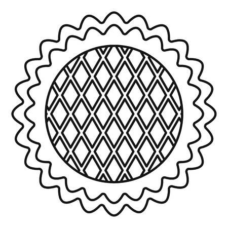 Blumenkuchen-Symbol. Umreißen Sie Illustration der Blumenkuchenvektorikone für das Webdesign lokalisiert auf weißem Hintergrund