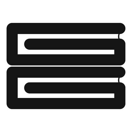 Clothes stack icon, simple style