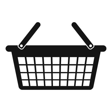 Clothes basket icon. Simple illustration of clothes basket vector icon for web design isolated on white background Vectores