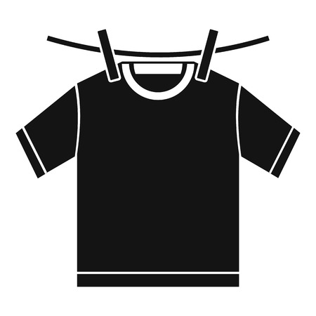 Tshirt dry icon. Simple illustration of tshirt dry vector icon for web design isolated on white background