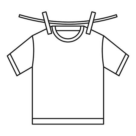 Tshirt dry icon. Outline illustration of tshirt dry vector icon for web design isolated on white background