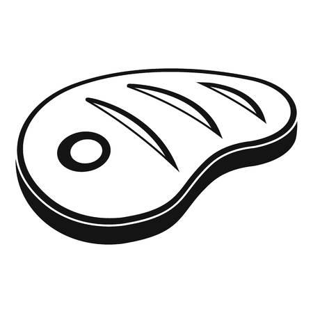 Dinner steak icon. Simple illustration of dinner steak vector icon for web design isolated on white background Stock Vector - 114814740