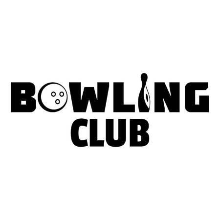 Bowling new club logo, simple style