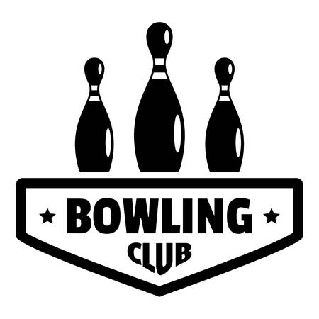 Bowling club logo, simple style