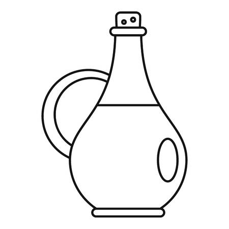 Traditional olive oil bottle icon. Outline illustration of traditional olive oil bottle vector icon for web design isolated on white background